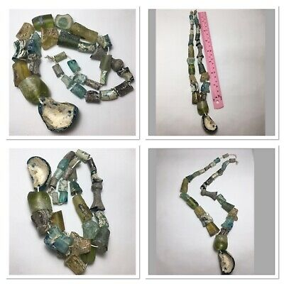Very beautiful ancient Roman glass beads necklace