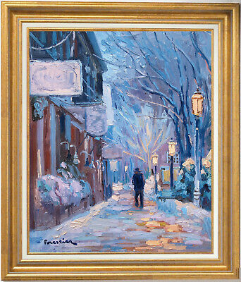 Winter In Nantucket~Listed Artist~Original Oil Painting By Marc Forestier