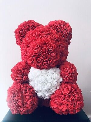 """14"""" Rose Teddy Bear with Gift Box Mothers Day/anniversary Gift"""