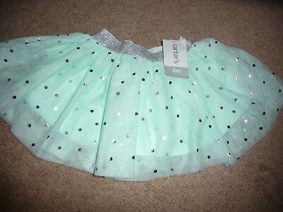 NEW NWT Carters Baby Girl Mint Green Tutu Skirt Size 3 months