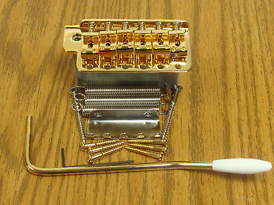 NEW Gold Vintage Strat TREMOLO & Whammy Bar for Fender Stratocaster SB-0200-002
