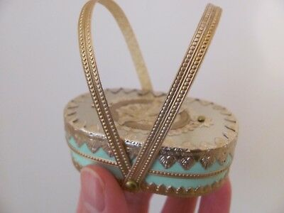 Tiny Antique Style Victorian Candy Container as French Fashion Doll Purse Basket
