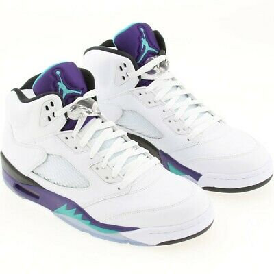 online retailer 3906b e0dfa US sz 10.5 AIR JORDAN 5 V RETRO 2013 EMERALD GRAPE ICE BLK 136027-108