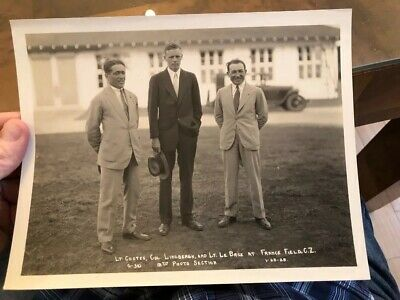 1928 Military 12th Photo Section Press Photo Aviator Charles Lindbergh In Panama