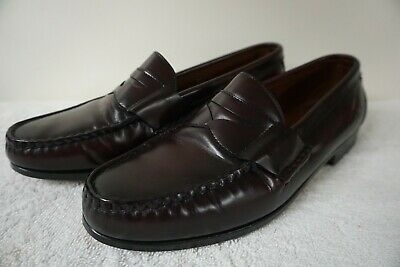 bf57e963a9a ALLEN EDMONDS WALDEN Penny Loafers Burgundy 11 EEE Made in USA ...