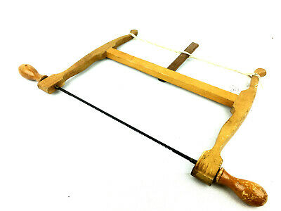 Old Wooden Primitive Bow Saw 10 TPI Collectible Early Woodworking Hand Tools