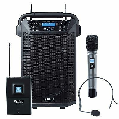 Denon Audio Commander Mobile PA System w/ Wireless Handheld + Headset Mic NEW