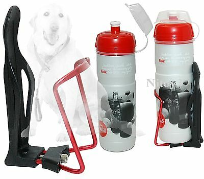 Aluminum Alloy Adjustable Bike Water Bottle Holder w/ Water Bottle 16 fl oz