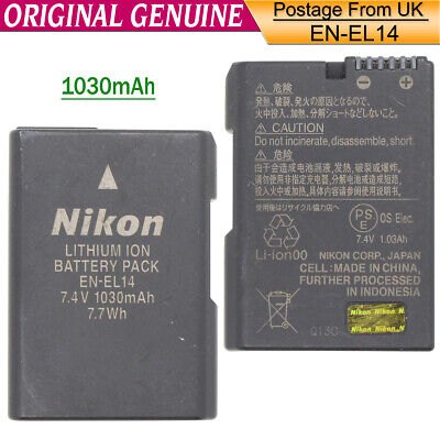 Genuine original Nikon EN-EL14 Battery for P7700 P7000 P7100 D3200 D3100 MH-24