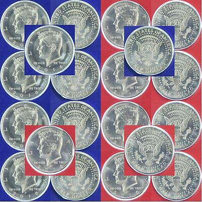 2016 P D Kennedy Half Dollar Mint Cello Roll 20 US Coin Lot