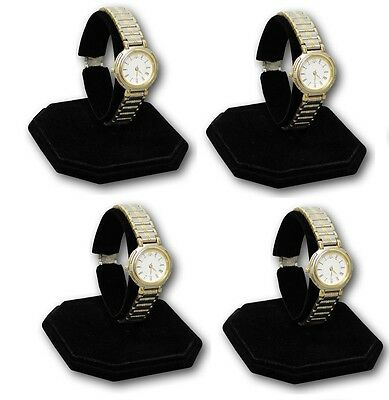 Lot Of 4 Watch Display Stand Display Counter Top Stand Metal Base Watch Holder
