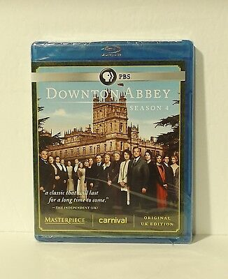 Downton Abbey: Season 4 (Blu-ray Disc, 2014, 3-Disc Set) NEW AUTHENTIC REGION A
