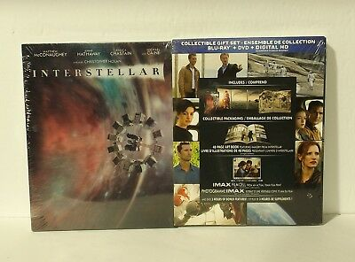 Interstellar Collector Gift Set (Blu-ray, DVD, digital, Canadian) film cell NEW