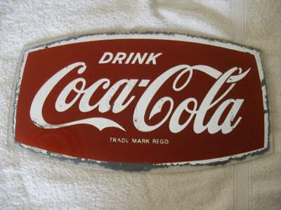 Genuine Old Coca Cola coke advertising glass mirror collectible 1950's 1960's