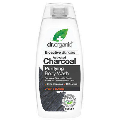 Dr Organic Activated Charcoal Purifying Body Wash 250ml -  NEW!!!
