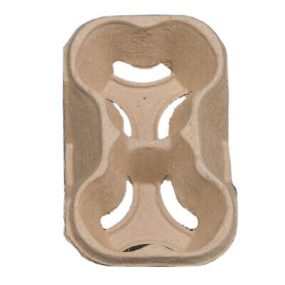 2 Cup Tray Holder Paper Cardboard Carrier Tea Coffee Hot & Cold Drinks Paper Cup
