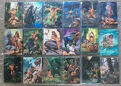 Joe Jusko's Edgar Rice Burroughs Collection Series 1 60 Card Set - FPG - 1994