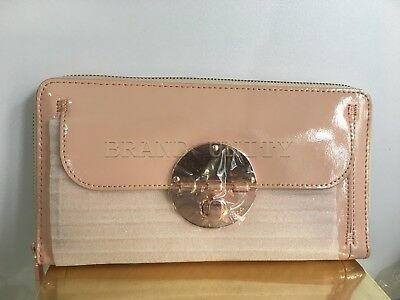 Mimco Leather Large Turnlock Travel Wallet Clutch Purse Brand New 249 Pink