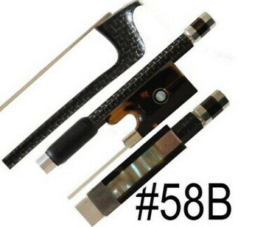 Top Model! A Silver Braided Carbon Fiber Violin Bow  #58B the Best Selling Bow