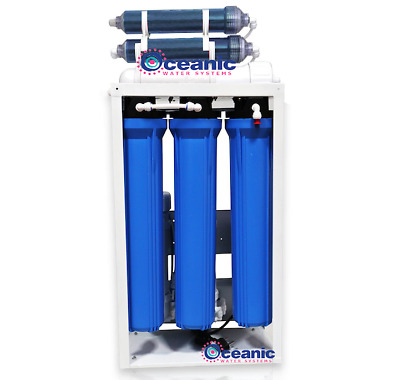 Commercial Size Aquarium RODI Water Filter System - 800 GPD 0 TDS  Booster Pumps