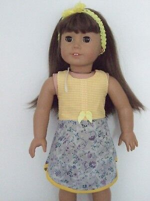 """Dolls Clothes for 18"""" Our Generation/American Girl / 3pc OUTFIT yellow check"""