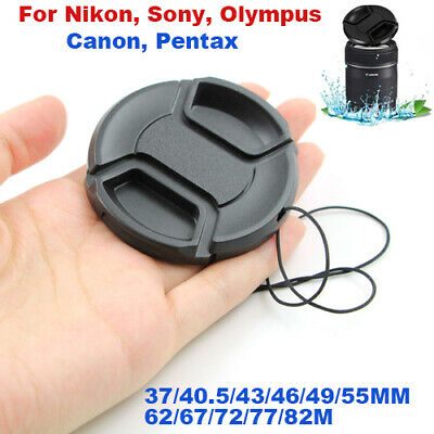 37-82MM Camera Snap-on Front Lens Cap Cover For Canon Nikon Sony Pentax Olympus