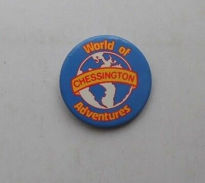 World Of Chessington Adventures Vtg Plastic Pin Badge Vgc 1980S? Rollercoasters