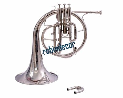 Professional Silver French Horn Bb with box Best Gift Christmas Horn Mellophones