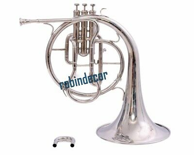 Best Gift Christmas Horn Mellophones Professional Silver French Horn Bb with box