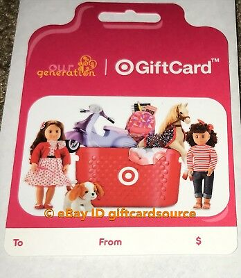 """Target 2019 Gift Card """"Our Generation"""" No Value New Collectible"""