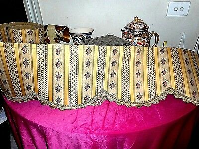 Antique very long regency striped silk brocade pelmet