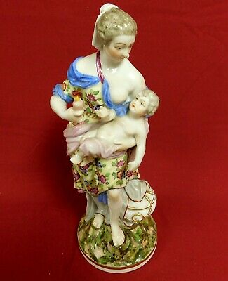 Antique Austrian Royal Vienna Porcelain Figurine Of Goddess Diana, Rare