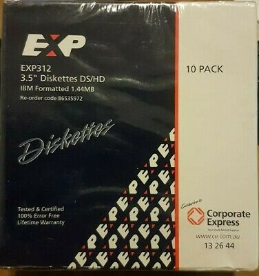 """3.5"""" Inch Ds/hd Pack Of 10 Disks Sealed - Never Opened!"""