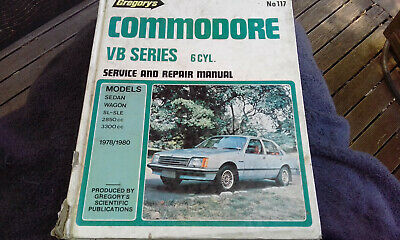 Holden VB 6cyl Commodore Gregorys Workshop Manual 117 service repair