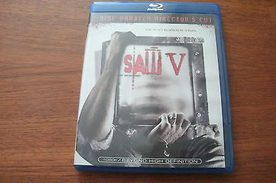 Saw V (Blu-ray Disc, 2009, 2-Disc Set, Unrated Director's Cut)  BOGO