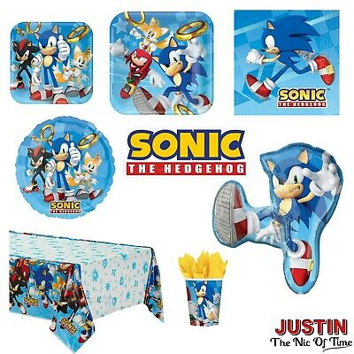 SONIC The Hedgehog Birthday Party Supplies Boys Childrens Tableware Decorations