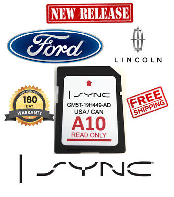 Ford Lincoln A10 Map Update A9 Navigation Gps Sd Memory Card Sync 2019 Us&Canada