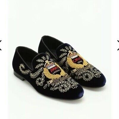997be95225a Jimmy Choo Limited Edition Sloane Velvet Embroidered Loafers (EU43.5)