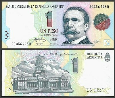 Argentina 1 PESO Serie D ND (1992-94) P 339b UNC OFFER !