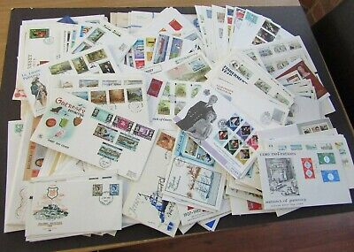 CHANNEL ISLANDS - FINE COLLECTION OF 280+ 1st DAY COVERS 1969/2000s