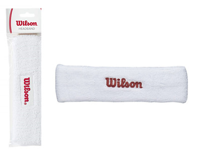 Wilson Headband Used by Pro's - Sweatband Tennis Squash Badminton White Sports