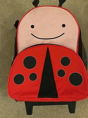 Skip Hop Zoo Kids Rolling Luggage with extended Handle - Ladybird
