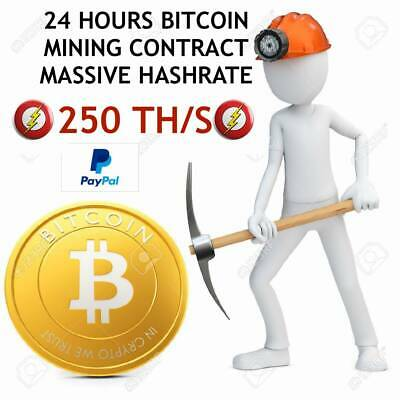 !!!MASSIVE HASHRATE!!! 250 TH/s - BTC - ₿  Cloud mining - 24 HOURS CONTRACT