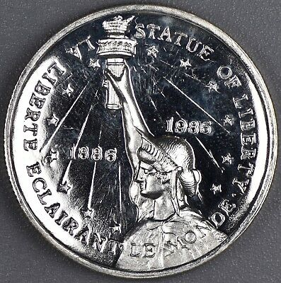 1986 Rarities .999 Fine 1 oz Silver Proof High Relief Round. Liberty Eagle