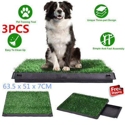 3pcs Indoor Puppy Training Grass Potty Toilet Trainer Pet Dog Pee Dog Cat Relief