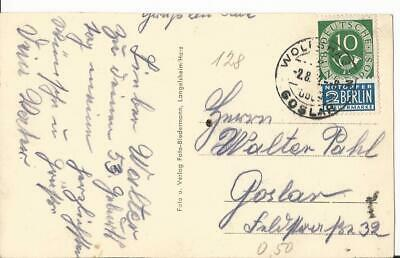 Germany Berlin Airlift 1952 Postcard With Tax Label & Newspaper Cutting Posthorn