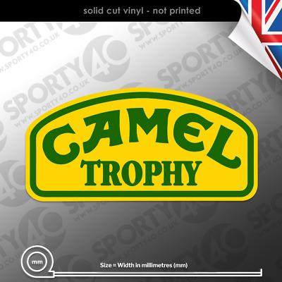 Camel Trophy - 2 x Vinyl Decal / Sticker  - Rally Land Rover Discovery 3824-0119