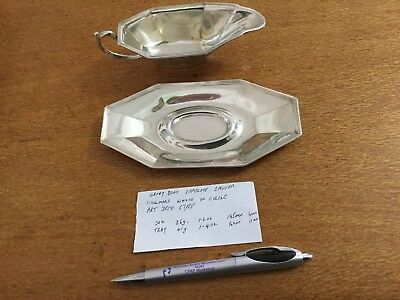 Sterling Sauce boat Seperate Saucer by Saart Bros