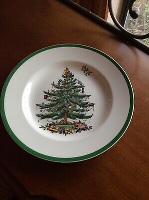 """Spode """"Christmas Tree"""" 10-3/4"""" Dinner Plate ~ Made in England* ~ Mint"""