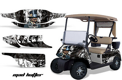 Golf Cart Graphics Kit Decal Sticker Wrap For 2 Seat EZ-Go TXT 94-13 HATTER W K